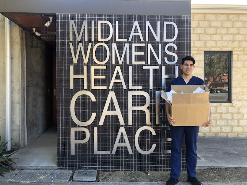 Dr Adam Peermamode outside of the Midland Women's Health Care Place